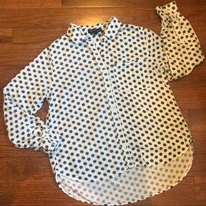 Velvet Heart   Black-and-White Flowers Shirt